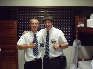 C'Jay and his companion from the MTC! Saying goodbye